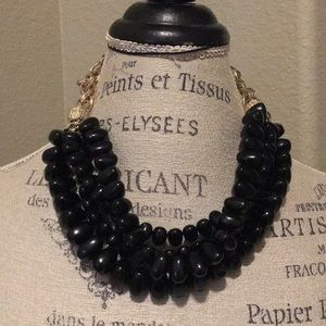 Banana Republic Black Beaded Necklace